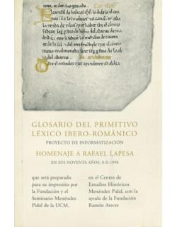 Glosario del Primitivo Léxico Ibero - Románico.